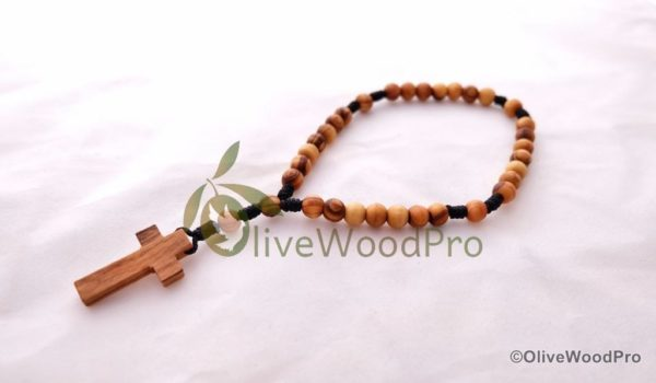 Anglican Rosary Olive Wood cord Prayer Handmade Bethlehem Holy Land