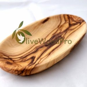 "Olive wood rustic bowl / dish / plate 9""/23cm hand crafted and made in the holy land"