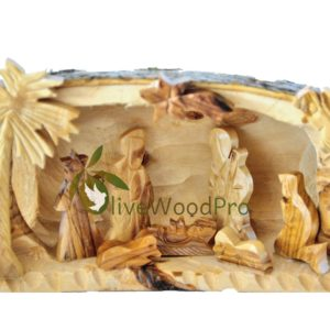 Holy land Olive wood Christmas tree nativity set holy family