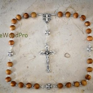 Prayer Olive Wood Rosary Blessed Bethlehem Olive Wooden Beads Anglican Christian Cross