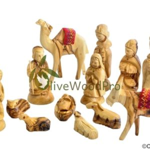 Holy Land Olive wood nativity set Christmas tree nativity set 13 pcs