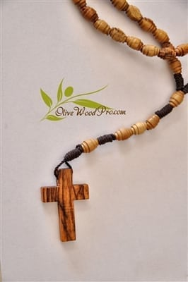 Holy Land Olive wood rosary oval beads handmade