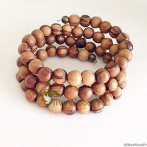 WOOD bracelet HANDMADE wrap OLIVE WOOD bracelet HOLY LAND